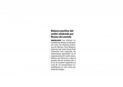 Diario de almería. Balance outlet