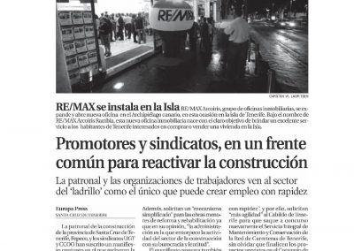 La Opinon de Tenerife. Inauguracion REMAX Arcoiris Rambla