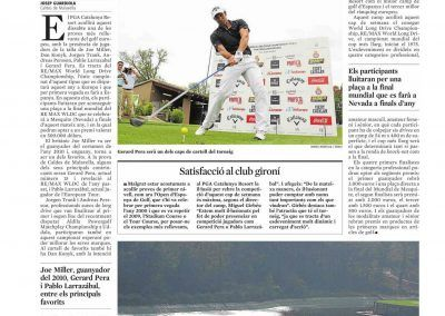 La Vanguardia. REMAX World Long drive